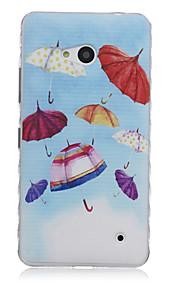 paraply mönster vågor slip handtag tpu mjuk telefon fallet för Nokia n640