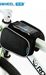 Bike Frame Bag Cycling/Bike For All Phones (Reflective Strip / Touch Screen , Black , PU Leather / PVC / EVA)