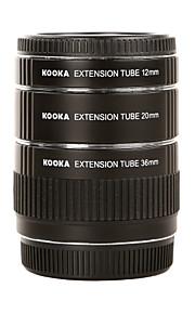 kooka de metal af macro tubos de extensão kk-o68 para Olympus OM 4/3 (12 milímetros 20 milímetros 36 milímetros) lente da câmera SLR