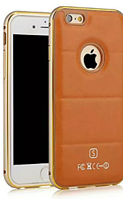 hzbyc®luxury skinn linjer ekte lær metall tpu integrert ramme sak for Apple iPhone 6plus / 6s pluss