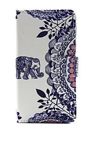 애플 아이폰 7 7 플러스 아이폰 6s 6 플러스 아이폰 5s 5 케이스 커버 코끼리 패턴 pu 가죽 케이스