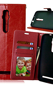 PU Leather Card Holder Wallet Stand Flip Cover With Photo Frame Case For Asus Zenfone 2/Zenfone 5(Assorted Colors)
