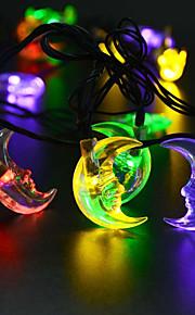 konge ro solcelle 21.32ft 30led månen form julebord dekorasjon lys utendørs vanntett string lys