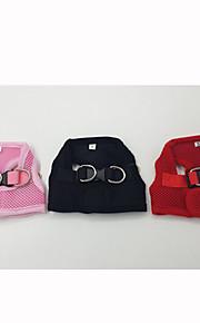 레드 / 블랙 / 핑크 - 리트랙터블 - 직물 - 하니스 - 개