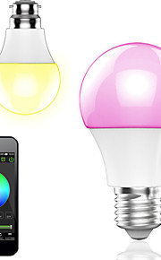 1 stk. HTL E26/E27 4.5 W 10 SMD 5050 400LM LM Varm hvit / RGB A60(A19) Bluetooth Smart LED-lampe AC 100-240 V