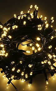 konge ro solar 72.17ft 200led 8 modus julen innredning blinkende lys utendørs vanntett string lys