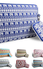 smith Sursee ® tragen Laptop-Hülle Canvas-Gewebe von 13 bis 13,3 Zoll (blauer Elefant)