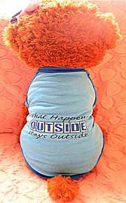 T-shirt - Chiens - Eté - Mode - Bleu - en Nylon - XS / S / M / L