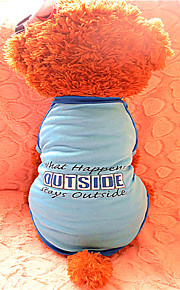 Hunde - Sommer - Nylon - Modisch - Blau - T-shirt - XS / S / M / L