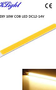 youoklight® 10st diy 10w cob ledde 3000K 950lm varmvitt ljus remsor (dc 12 ~ 14v)
