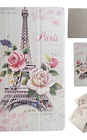 Paris Tower Coloured Drawing or Pattern PU Leather Folio Case Tablet Holster for iPad Pro