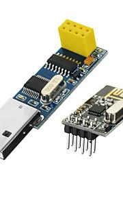 2016 NEW  USB Wireless Serial Port to nRF24L01+ Module - Black + Blue + Multicolor