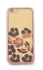 iphone6에 대한 다시 케이스와 꽃 세 전기 도금 TPU 플러스 / 6S 플러스