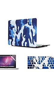 """3 в 1 камуфляж дизайн обложки чехол + клавиатура + крышка протектор экрана чехол для MacBook Air 11 """"про 13"""" / 15 """""""