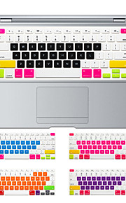 design coloré de bonbons peau de couverture de clavier en silicone pour MacBook Air 13,3, MacBook Pro Retina 13 15 17 nous layout
