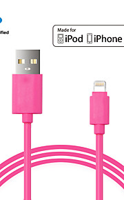 mfi godkjent USB datakabel sync ladekabel for iphone 5 5s 6 6plus ipad 1m ppid146643-0073