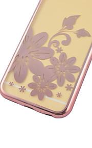 iphone6에 대한 다시 케이스 꽃 한 전기 도금의 TPU 플러스 / 6S 플러스