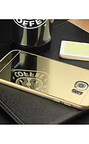 disegno speciale di alta qualità respingente del metallo di colore solido di placcatura specchio della copertura posteriore per Samsung s6