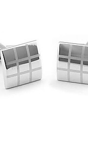 Men's Novelty Business Cufflinks Square Vintage Wedding Gift