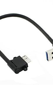 cy® mannelijke turnup USB 3.0 naar 10 pin links draaien micro-usb-kabel
