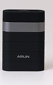 Arun Y303 7800mAh with Dual USB Ports Design Power Bank for Iphone and Others  -- Black with Silver Color