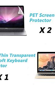 """초박형 투명 TPU 소프트 키보드 보호 커버 + 보호 명확한 스크린 가드 12 """"맥북에 대한"""