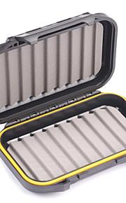 Mizugiwa Plastic Waterproof Fly Fishing Bait Dry Wet Flies Box Storage Tackle Case 22w Small Pocket Size 136x86x37mm