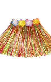 30cm Kid's Fire-Proof Double Layers Colorful Hawaiian Carnival Hula Dress Only Waist Elastic