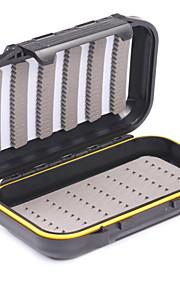 Mizugiwa Plastic Waterproof Fly Fishing Bait Dry Wet Flies Box Storage Tackle Case 22e Small Pocket Size 136x86x36mm