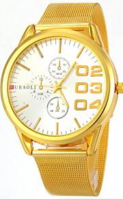 Herren Kleideruhr Quartz Armbanduhren für den Alltag Edelstahl Band Armbanduhr Gold