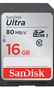 SanDisk 16GB Clase 10 SD/SDHC/SDXCMax Read Speed80 (MB/S)Max Write Speed80 (MB/S)