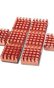 8 PCS Copper VGA RAM Cooling Heatsinks Cooler + Cosmos Cable Tie