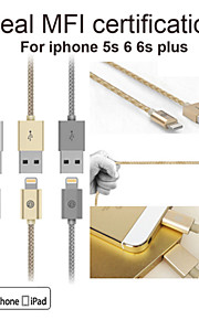 OPSO sc07apple mfi gecertificeerde USB-kabel 1m voor iPhone 6 / 6s, 6 / 6s plus, iphone 5 / 5s / 5c, ipad data laadkabel