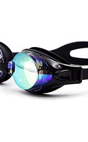 Swimming Goggles Unisex Waterproof Silica Gel PC White / Black / Blue / Dark Blue Yellow / Pink / Black / Blue / Dark Blue