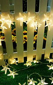 konge ro 40led sjøstjerner ferie lys batteri utendørs vanntett string lys (kl0023-rgb, hvit, varm hvit)