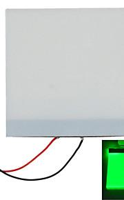 5*5*0.2cm DIY Blue Light LED Backlight Light Guide Panel LGP for Arduino Raspberry Pi - White+green
