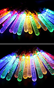 Solar Fairy String Lights 10m/33ft 60 LED Icicle Decorative Gardens, Lawn, Patio, Christmas Trees, Weddings