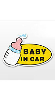 Funny  Baby in car Car Sticker Car Window Wall Decal Car Styling (1pcs)