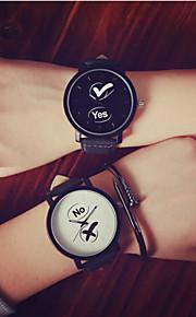 Casal Relógio Esportivo Quartz PU Banda Relógio de Pulso Cores Múltiplas