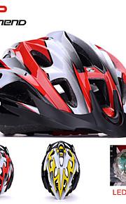 promend® unisex urheilu pyöräilykypärä / led Turvavalotoiminto 21vents suojaava ride kypärä / vuori / maantiepyöräily
