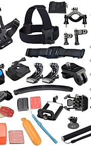 Gopro Accessories 40 in 1 Set Helmet Harness Chest Belt Mount Strap Monopod Go pro hero4 3+ 2 1 xiaomi yi
