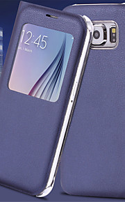 Per Samsung Galaxy S7 Edge Con sportello visore / Standby automatico/accendimento automatico / Con chiusura magnetica Custodia Integrale