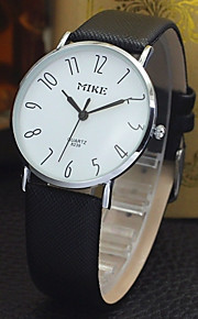 Casal Relógio de Moda Quartz Couro Banda Relógio de Pulso Prata / Dourada