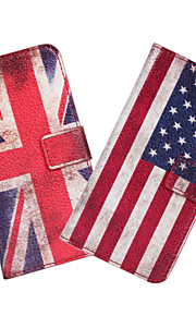HTC 욕망 (601)에 대한 미국 또는 영국 국기 가죽 케이스 커버 지갑 카드 슬롯 케이스