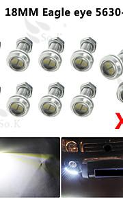 10 x 9W ledet eagle eye lys bil tåke DRL dagtid reversere backup parkering signal