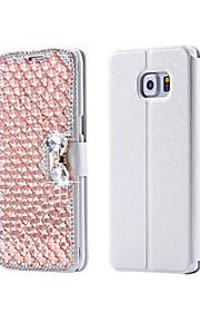 cristallo di lusso bling& diamante pu borsa di pelle di vibrazione per la galassia S3 / S4 / S5 / S6 / S6E / S7 / S6E più