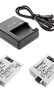ismartdigi lpe5 digitalt kamera batteri x2 + o.charger til Canon EOS 500D / 1000D / 450D