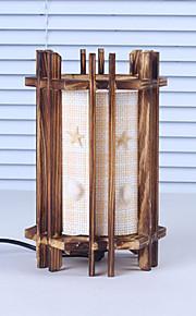 creatieve hout de schelpen cilindrische lamp container decoratie bureaulamp slaapkamer lamp cadeau voor kind