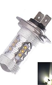 youoklight® h7 px26d 80W 16xcree kald hvit 4500lm 6500k for bil tåkelys (ac / DC12V-24V)