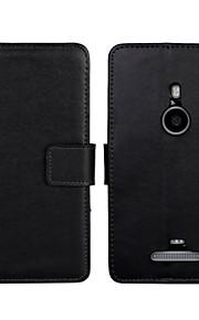 caja de la PU del tirón del cuero estilo de la carpeta de lujo con cierre magnético y una tarjeta para Nokia Lumia 925 (colores surtidos)